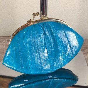 Lee Sands vintage eel skin French coin purse pouch